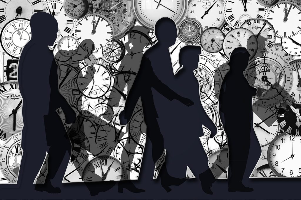 clocks with silhouettes